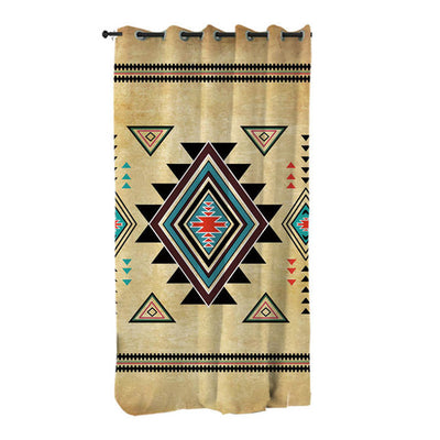 Geometric Native American Curtains