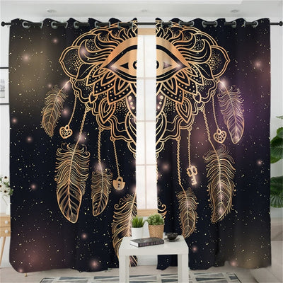 Galaxy Eye Dreamcatcher Curtains