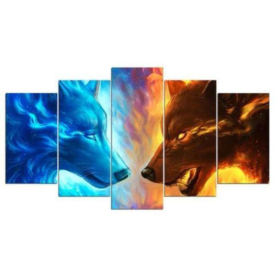 Fire And Ice by JoJoesArt  5pcs