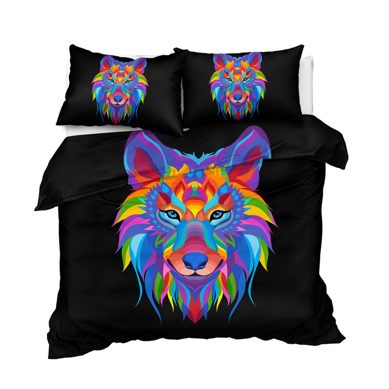 Festive Wolf Bedding Set
