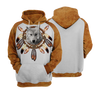 Dreamcatcher Wolf All Over Print Hoodie