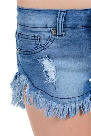 Diamante Denim Shorts