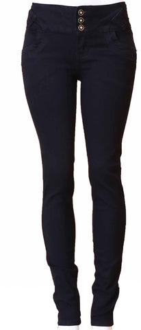 Diamante Skinny Jeans Colombian Design Butt Lifter- Black