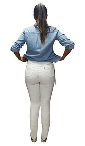 Moda Jeans Formatum 100% Made in Colombia Butt Lifter Women Jeans- Pantalones Colombianas Levantacola- White 1405
