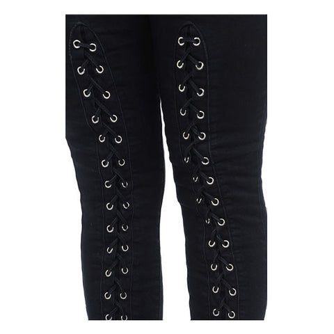 Diamante JUNIORS & PLUS Colombian Design Butt Lifter Women Denim High Waist Skinny Jeans-Black with weave- A10240