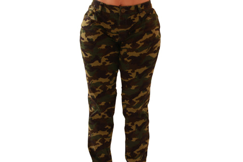 PLUS SIZE Colombian Design Butt Lifter  Women Denim Jeans- Camo (free trial enter FREETRIAL at checkout)