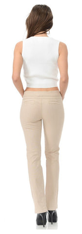 Diamante Colombian Design Butt Lifter Summer Pants- Khaki