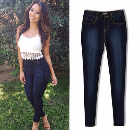 Trendy Stylish Pencil Slim Skinny Denim Jeans