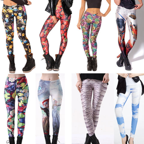 Womens Playful Design Trendy Fit Leggings
