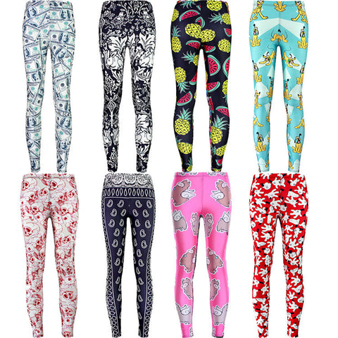 Womens Stylish Hip Design Trendy Print Leggings