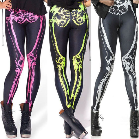 Womens Cool Edgy Skeleton Bone Design Leggings