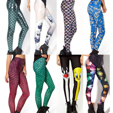 Womens Urban Print Sexy Leggings