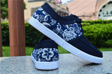 Mens Cool Floral Print Casual Shoes