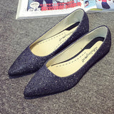 Womens Beautiful Sparkly Flats