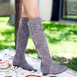 Womens Fashionable Knee High Pattern Boots