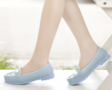 Womens Cute Rhinestone Loafer Casual Shoes