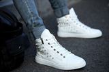 Mens Cool Spiked High-Top Sneakers