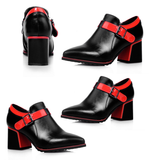 Womens Trendy Ankle Heels Boots