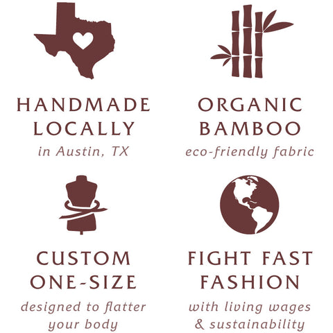 100% Handmade in Austin with Organic Bamboo
