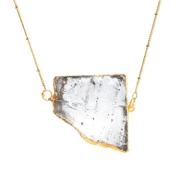 Quartz Slice Necklace