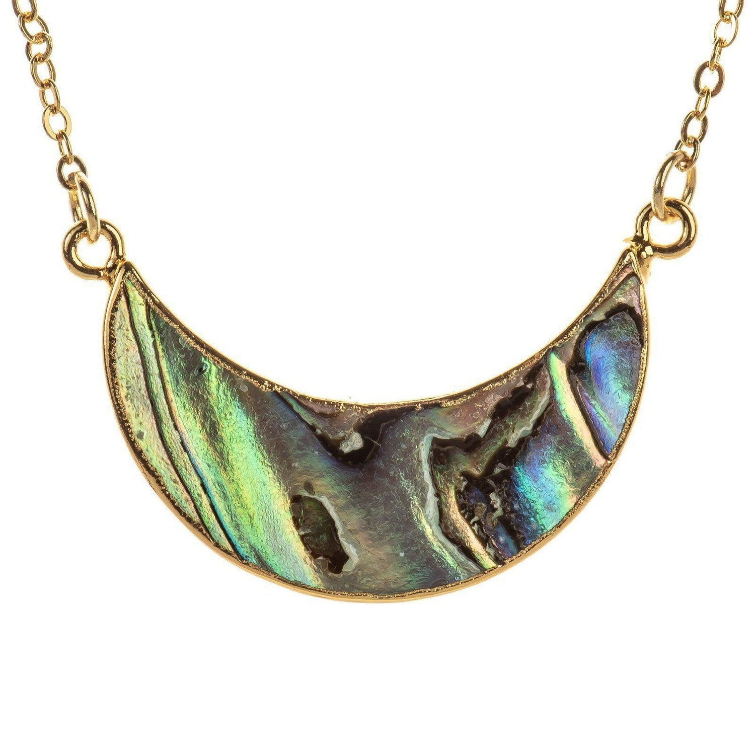Abalone Crescent Necklace-Necklace-Aria Lattner