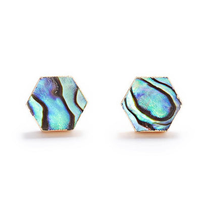 Abalone Shell Studs-Earrings-Aria Lattner