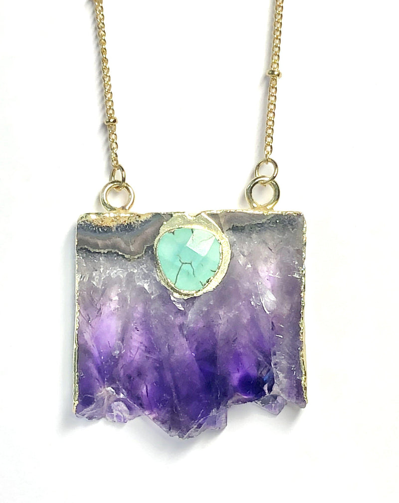 Amethyst Eye Necklace-Necklace-Aria Lattner
