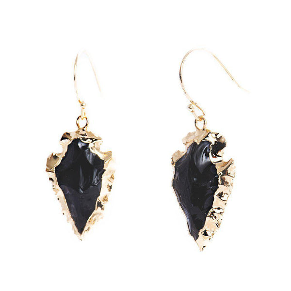 Arrowhead Earrings-Earrings-Aria Lattner