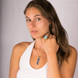 Blue Kyanite Necklace-Necklace-Aria Lattner