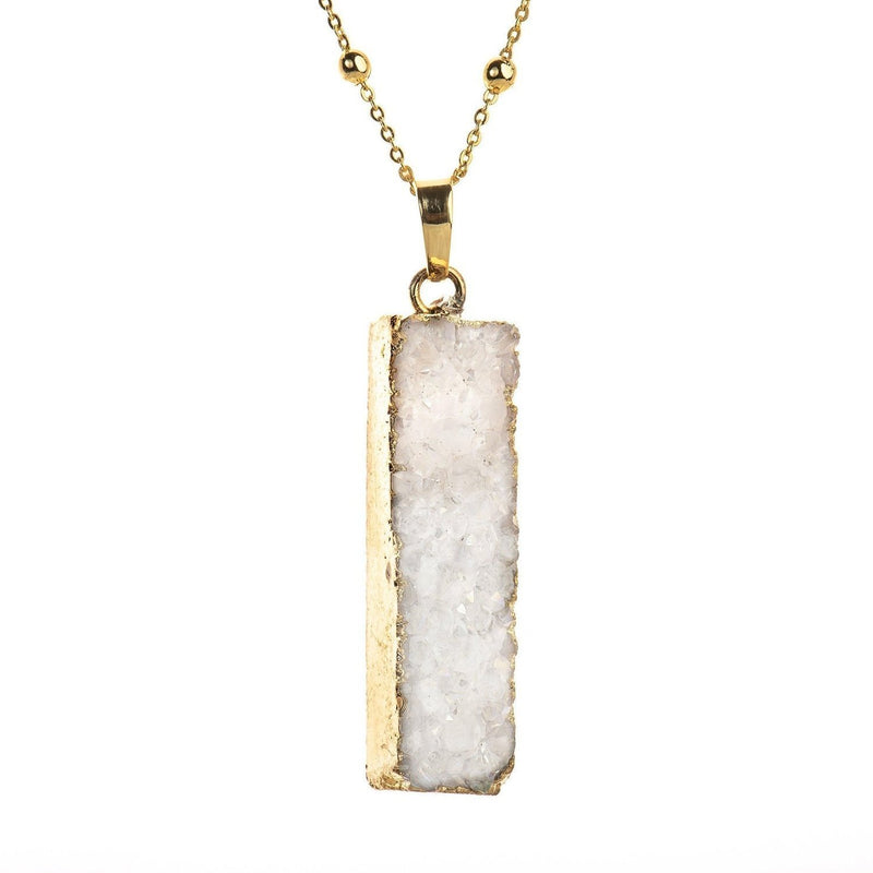 Druzy Bar Necklace-Necklace-Aria Lattner
