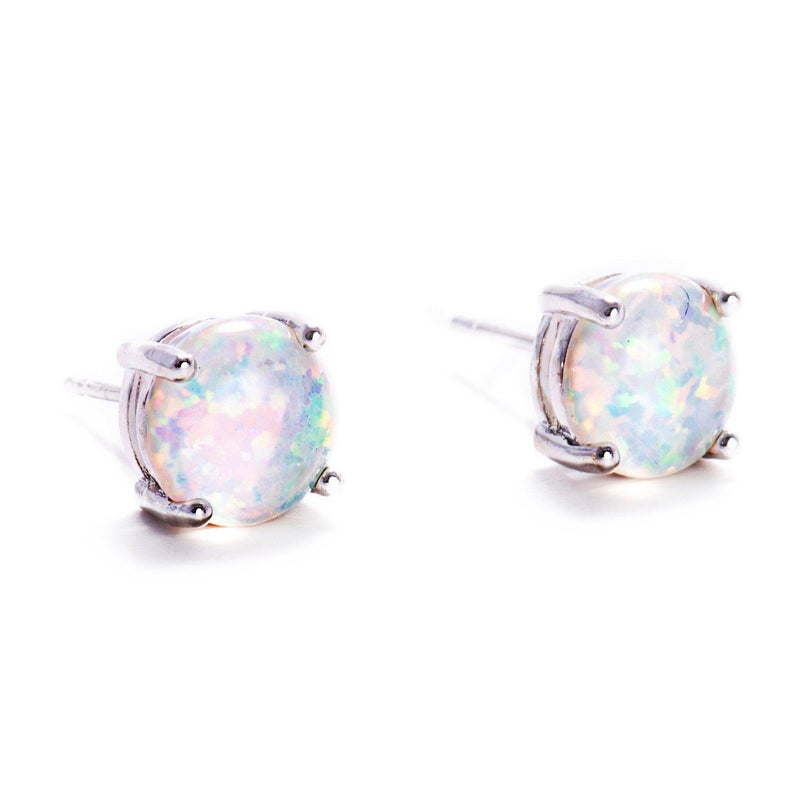 Fire Opal Studs-Earrings-Aria Lattner