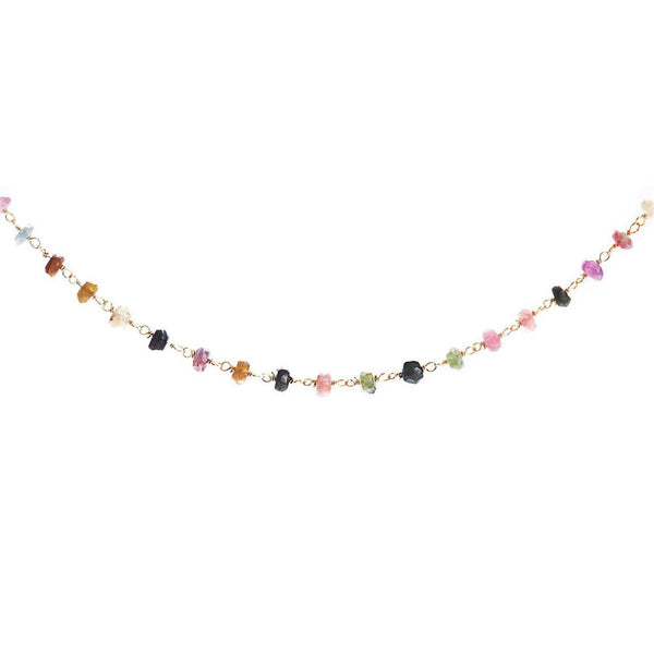 Gemstone Satellite Choker-Necklace-Aria Lattner