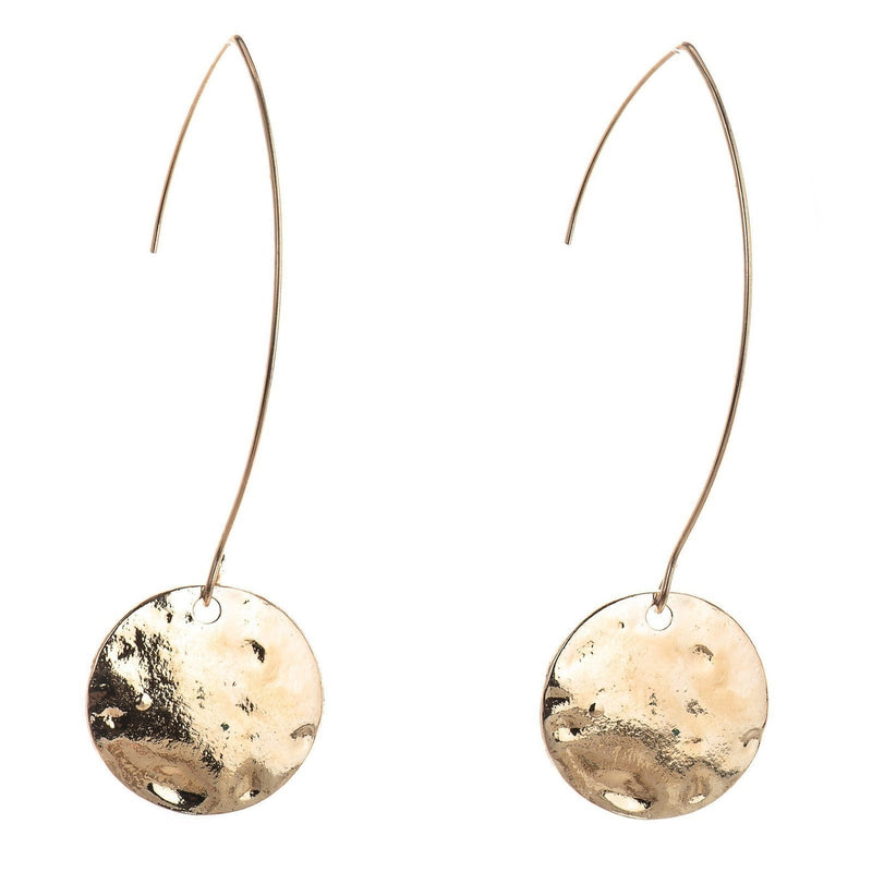 Hammered Disc Minimalist Earrings (OLD)-Earrrings-Aria Lattner