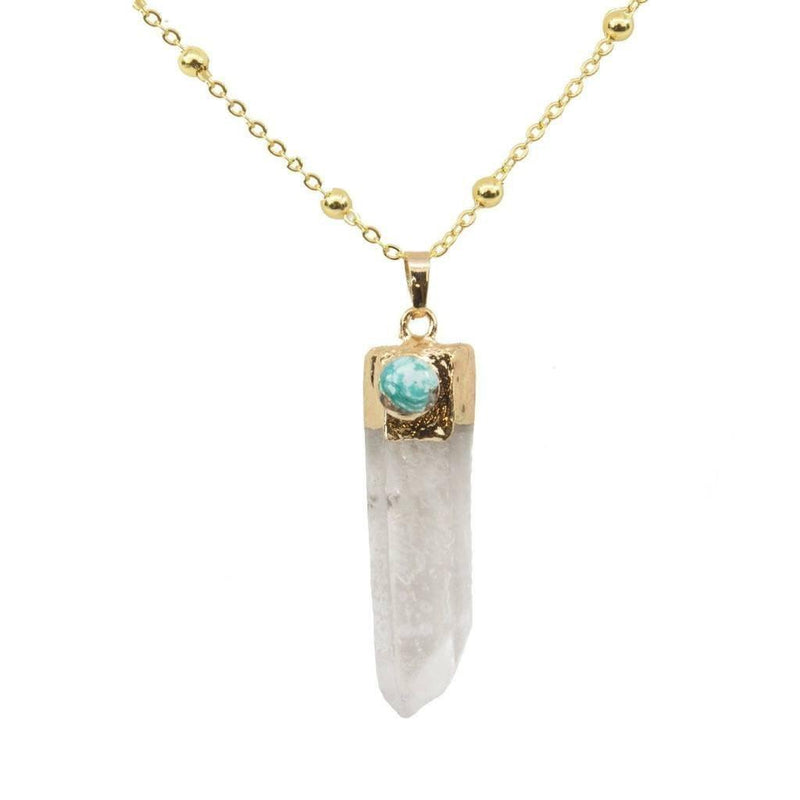 Isabella Healing Quartz Necklace-Necklace-Aria Lattner