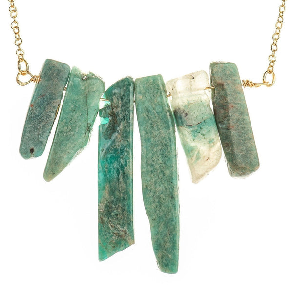Islander Amazonite Necklace-Necklace-Aria Lattner