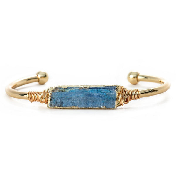 Kyanite Bar Bangle-Bracelet-Aria Lattner