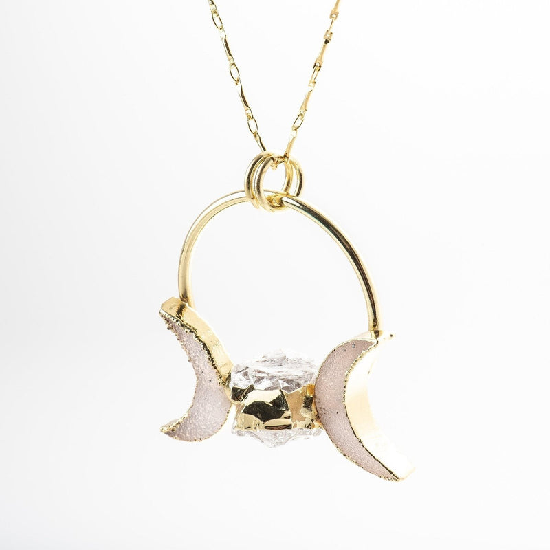 La Luna Triple Moon Necklace-Necklace-Aria Lattner