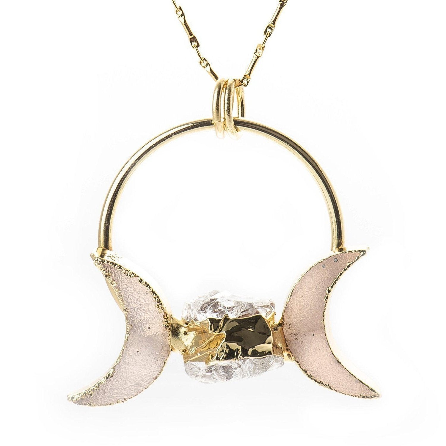 UK BOHO MOON CRESCENT NECKLACE Gold Chain Simple Jewellery Gift Celestial Lunar