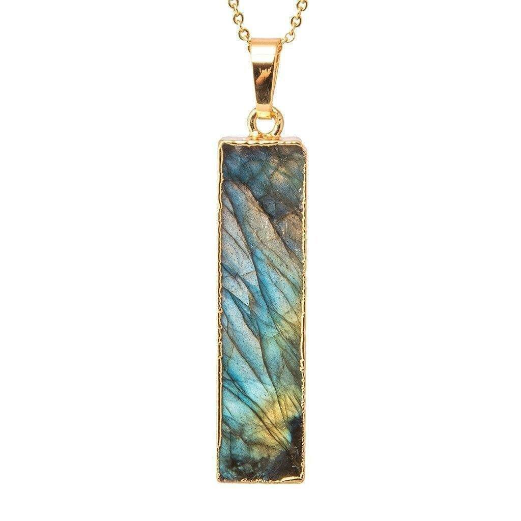 Labradorite Bar Necklace-Necklace-Aria Lattner