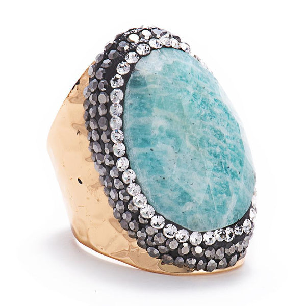 Lulu Ring (Larimar)-Ring-Aria Lattner