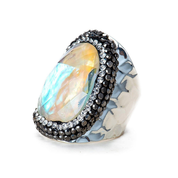 Lulu Ring (Mother of Pearl)-Ring-Aria Lattner