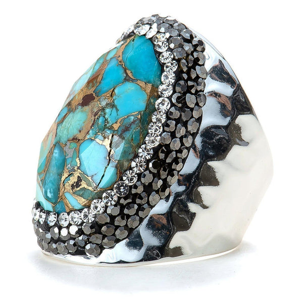 Lulu Ring (Turquoise)-Ring-Aria Lattner