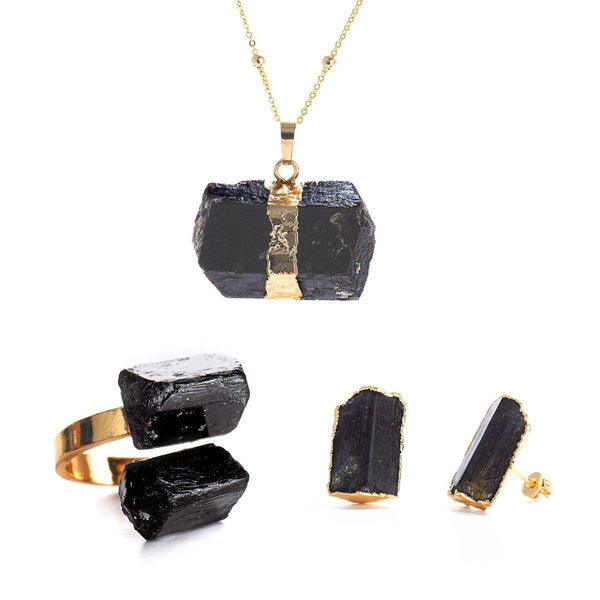 Meteor Set (Necklace, Studs, Ring)-Gift Set-Aria Lattner