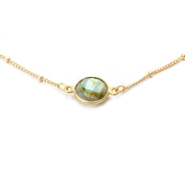 Mini Earth Labradorite Choker-Necklace-Aria Lattner