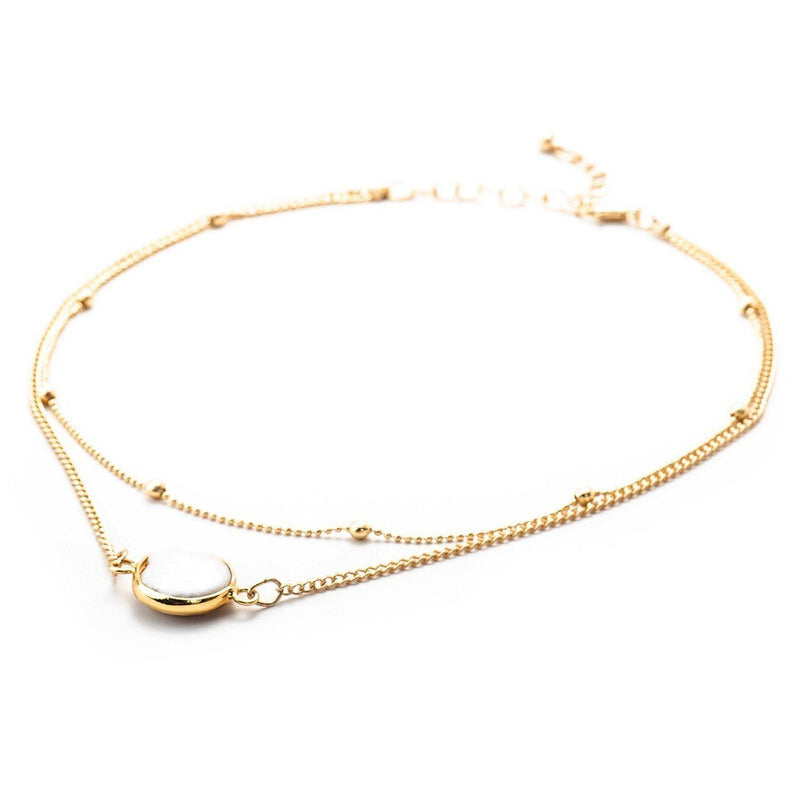 Minimalist Layered Choker-Necklace-Aria Lattner