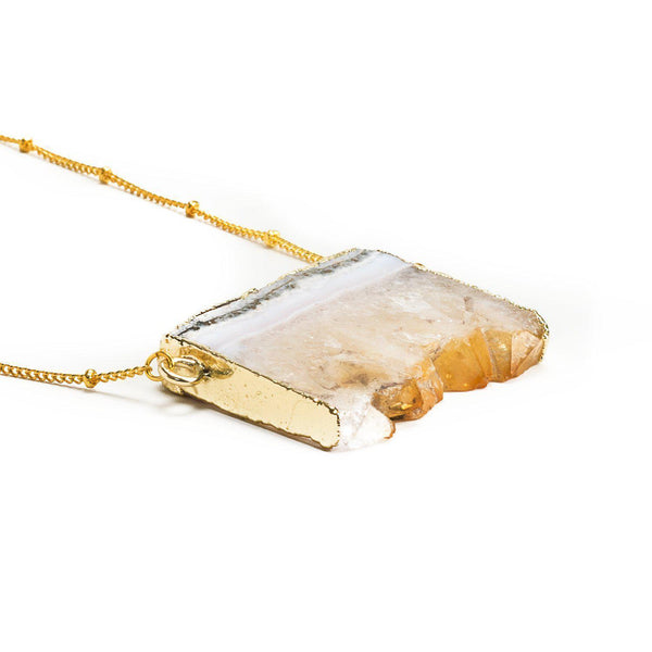 Money Stone Necklace-Necklace-Aria Lattner