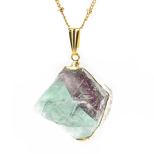 Natural Crystal Fluorite Necklace-Necklace-Aria Lattner