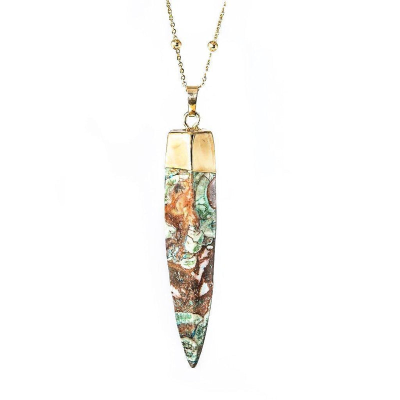 Ocean Jasper Energy Necklace-Necklace-Aria Lattner