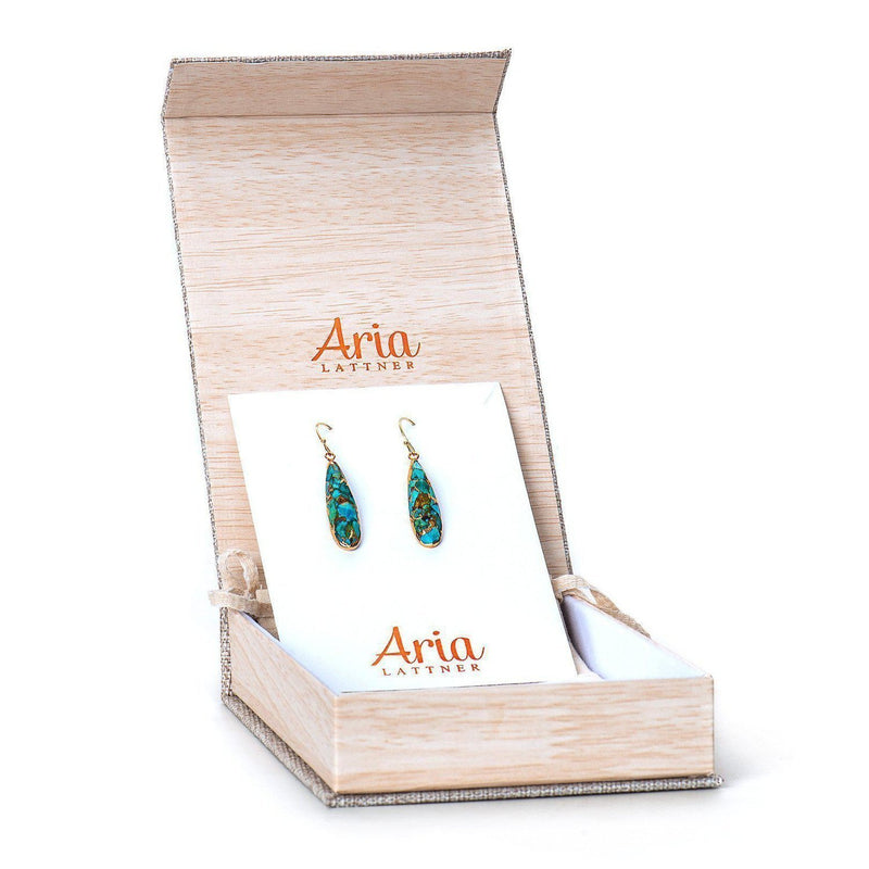 Samantha Dangle Earrings-Earrings-Aria Lattner