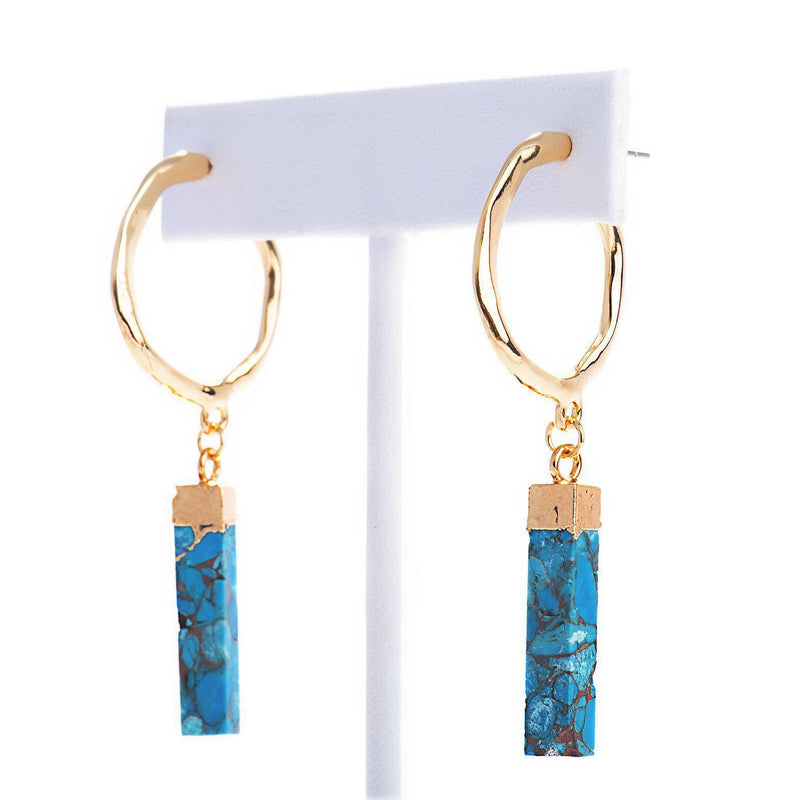 Samantha Hoop Earrings-Earrings-Aria Lattner